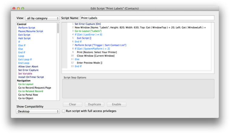 Monkeybread Software - MBS FileMaker Plugin - Syntax Coloring